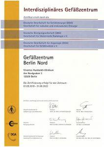 Zertifizierung Gefäßzentrum HUK 2019-2022